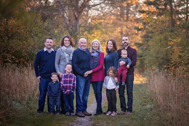 ottawa family photographer, ottawa family photography, fall family photos, fall session, cousins, grandparents